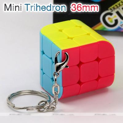 Verseny Rubik Kocka FanXin keychain three face cube 3x3x3 - Trihedron