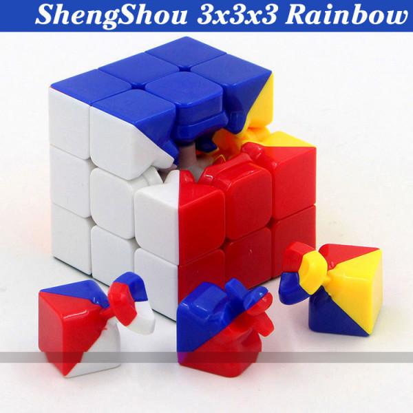 Verseny Rubik Kocka ShengShou 3x3x3 Cube - Rainbow