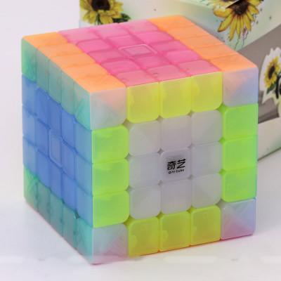 Verseny Rubik Kocka QiYi cube transparent Jelly colour series of 5x5